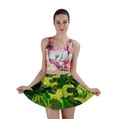 Marijuana Camouflage Cannabis Drug Mini Skirt