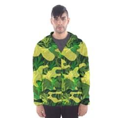 Marijuana Camouflage Cannabis Drug Hooded Wind Breaker (men)
