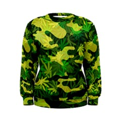 Marijuana Camouflage Cannabis Drug Women s Sweatshirt