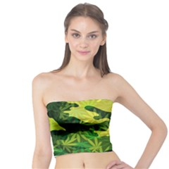 Marijuana Camouflage Cannabis Drug Tube Top