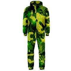 Marijuana Camouflage Cannabis Drug Hooded Jumpsuit (men)