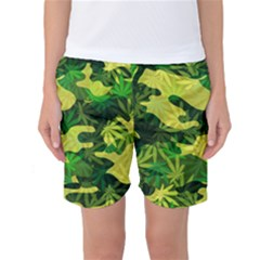 Marijuana Camouflage Cannabis Drug Women s Basketball Shorts