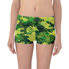 Marijuana Camouflage Cannabis Drug Boyleg Bikini Bottoms