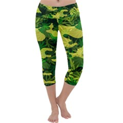 Marijuana Camouflage Cannabis Drug Capri Yoga Leggings