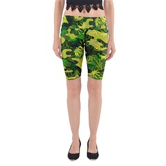 Marijuana Camouflage Cannabis Drug Yoga Cropped Leggings