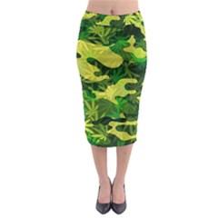 Marijuana Camouflage Cannabis Drug Midi Pencil Skirt