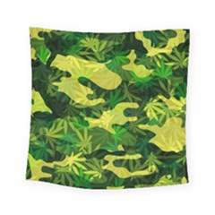 Marijuana Camouflage Cannabis Drug Square Tapestry (small)