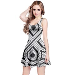 Pattern Tile Seamless Design Reversible Sleeveless Dress