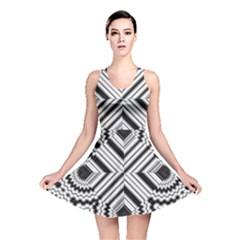 Pattern Tile Seamless Design Reversible Skater Dress
