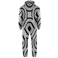 Pattern Tile Seamless Design Hooded Jumpsuit (men)