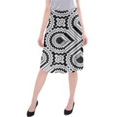 Pattern Tile Seamless Design Midi Beach Skirt