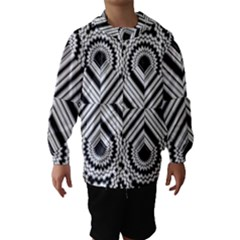 Pattern Tile Seamless Design Hooded Wind Breaker (kids)