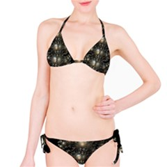 Fractal Math Geometry Backdrop Bikini Set