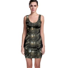 Fractal Math Geometry Backdrop Sleeveless Bodycon Dress