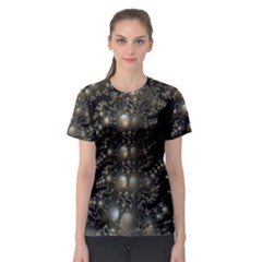 Fractal Math Geometry Backdrop Women s Sport Mesh Tee