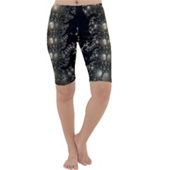 Fractal Math Geometry Backdrop Cropped Leggings