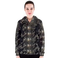 Fractal Math Geometry Backdrop Women s Zipper Hoodie