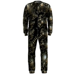 Fractal Math Geometry Backdrop Onepiece Jumpsuit (men)
