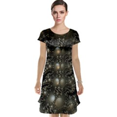 Fractal Math Geometry Backdrop Cap Sleeve Nightdress