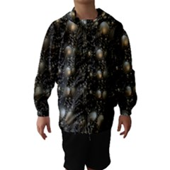 Fractal Math Geometry Backdrop Hooded Wind Breaker (kids)