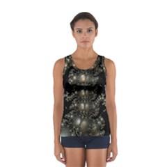 Fractal Math Geometry Backdrop Women s Sport Tank Top
