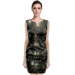 Fractal Math Geometry Backdrop Classic Sleeveless Midi Dress
