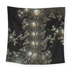 Fractal Math Geometry Backdrop Square Tapestry (large)