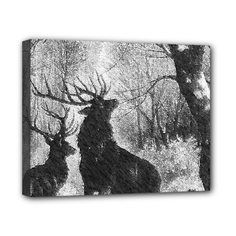 Stag Deer Forest Winter Christmas Canvas 10  X 8