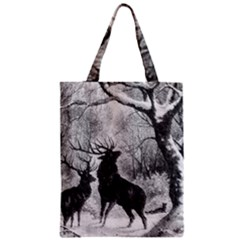 Stag Deer Forest Winter Christmas Classic Tote Bag