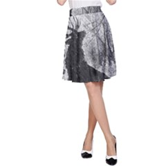 Stag Deer Forest Winter Christmas A Line Skirt