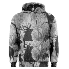 Stag Deer Forest Winter Christmas Men s Pullover Hoodie