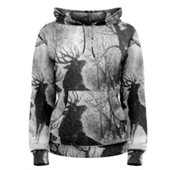 Stag Deer Forest Winter Christmas Women s Pullover Hoodie
