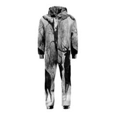 Stag Deer Forest Winter Christmas Hooded Jumpsuit (kids)