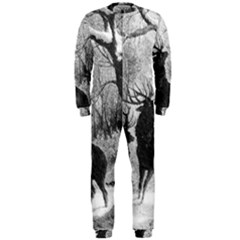 Stag Deer Forest Winter Christmas Onepiece Jumpsuit (men)