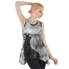 Stag Deer Forest Winter Christmas Side Drop Tank Tunic