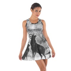 Stag Deer Forest Winter Christmas Cotton Racerback Dress