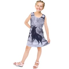 Stag Deer Forest Winter Christmas Kids  Tunic Dress