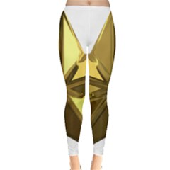 Stars Gold Color Transparency Leggings
