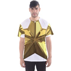 Stars Gold Color Transparency Men s Sport Mesh Tee
