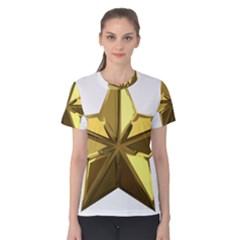 Stars Gold Color Transparency Women s Cotton Tee