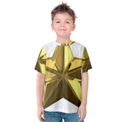Stars Gold Color Transparency Kids  Cotton Tee