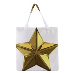 Stars Gold Color Transparency Grocery Tote Bag