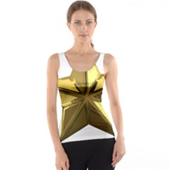 Stars Gold Color Transparency Tank Top