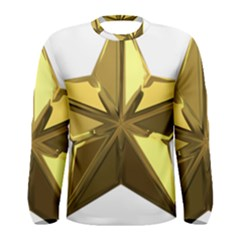 Stars Gold Color Transparency Men s Long Sleeve Tee