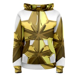 Stars Gold Color Transparency Women s Pullover Hoodie