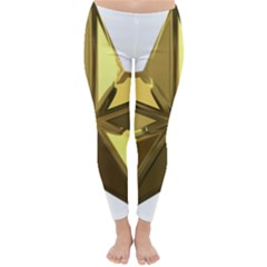 Stars Gold Color Transparency Classic Winter Leggings