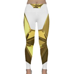 Stars Gold Color Transparency Classic Yoga Leggings