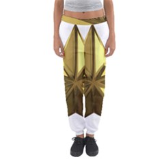 Stars Gold Color Transparency Women s Jogger Sweatpants