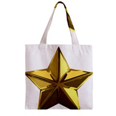Stars Gold Color Transparency Zipper Grocery Tote Bag