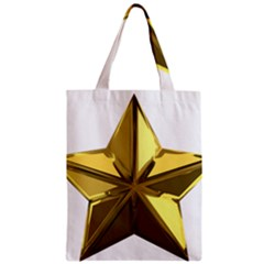Stars Gold Color Transparency Zipper Classic Tote Bag
